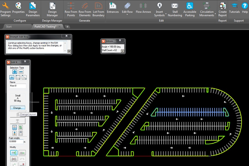Parking Site Design Software Parkcad By Transoft Solutions Selector