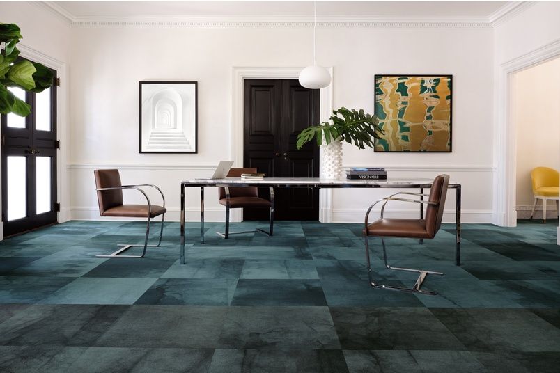 Eco-friendly carpet tiles – Dye Lab by