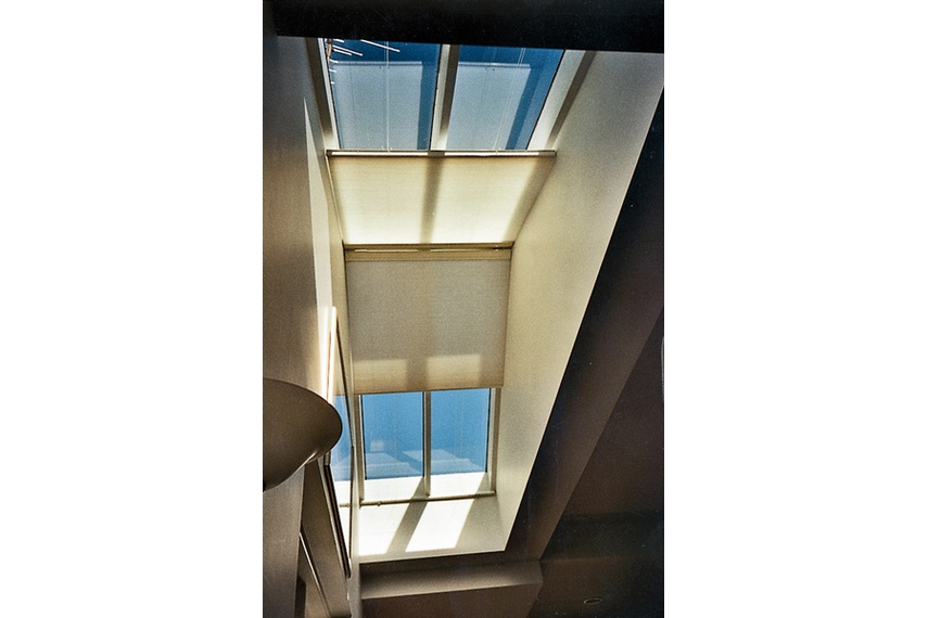 Duopleat 3.3 motorised skylight.